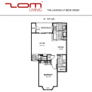 A1 Floor Plan at The Landing Bear Creek Apartments
