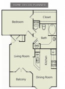A Plan at The Carlton Apartment Homes in Houston