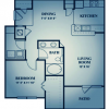 1 bedroom | 1 bath | 867 sq ft