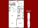 A4 One Bed Floor Plan with Den