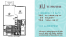 1-1 Apartment Floor Plan in Addison, TX