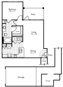1 Bedroom, 1 Bath 769 sq. ft.