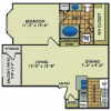 1-1 Apartment Layout