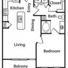 1 Bed, 1 Bath Apartment for Lease