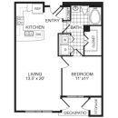 1-1 Apartment Hi Rise Floor Plan