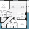2-2 Apartment Floor Plan for Rent