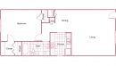 1-1 Palmetto Floor Plan for Rent