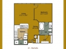 A1 Marbella Floor Plan at La Villita Apartments Irving, TX
