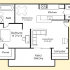 The Lodge at Lakeline Village Apartments Floor Plan A