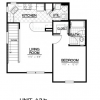 Unit A3.b Floor Plan at Cedar Park Apartments