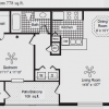 1-1 Apartment Floor Plan at Lewisville Apartments for Rent