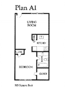 1-1 Houston Galleria Apartments, 9900 memorial apartments floor plan