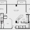 2 Bedroom High Rise Apartment Floor Plan