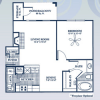 1 Bedroom Floor Plan for Rent