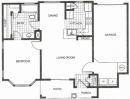 1-1 apartment, one bedroom, 1 bedroom apartment floor plan, a plan, bellagio apartments