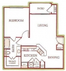 One Bedroom Floor Plan at UTSA Apartments