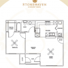 1-1 Floor Plan at Stonehaven Apartment Homes