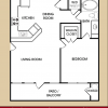 Spacious 1 Bedroom Floor Plan at City West Apartments Houston TX