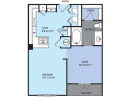 One Bedroom Apartment Floor Plan in Houston Medical Center