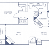 1-1 apartment floor plan gables apartments, gables at the terrace apartments one bedroom, one bedroom one bathroom apartment plan