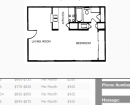 efficiency apartment, studio apartment, 1 bedroom floor plan, lands end apartments, portland tx apartments