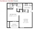 1 bedroom apartment, bent oaks apartments floor plan, austin far west apartments, one bed apartment