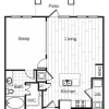A1 Floor Plan, One Bedroom Apartment, Grapevine TX Apartments, Stoneledge Apartments Grapevine Texas